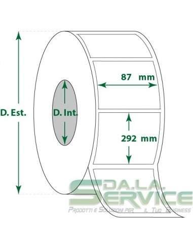 Etichette adesive in rotoli - f-to. 87X292 mm (bxh) - Termica My Label - 1
