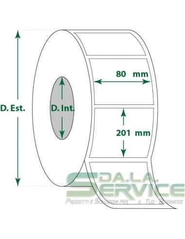 Etichette adesive in rotoli - f-to. 80X201 mm (bxh) - Termica