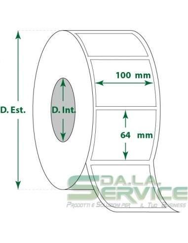 Etichette adesive in rotoli - f-to. 100X64 mm (bxh) - Termica