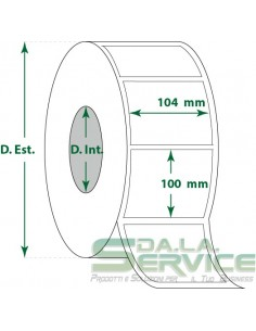 Etichette adesive in rotoli - f-to. 104X100 mm (bxh) - Termica