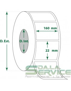 Etichette adesive in rotoli - f-to. 160X22 mm (bxh) - Vellum