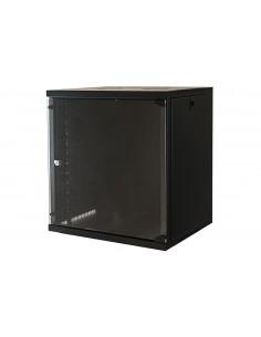 """Armadio Rack 19"""" 12 Unita' Da Muro Per Reti (A)620 X (L)540 X (P) 450 Mm Colore Nero"""