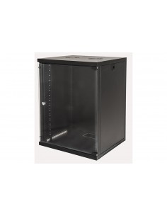 """Armadio Rack 19"""" 15 Unita' Da Muro Per Reti (A)750 X (L)540 X (P) 450 Mm Colore Nero"""