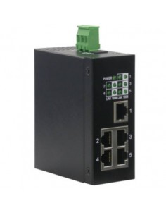 Switch Per Ambienti Industriali 10/100 5 Porte Rete Rj45