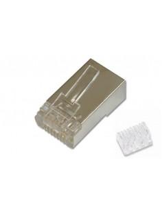 Connettore Plug 8 Poli Schermato Cat.6 Rj45 Con Inseritore Per Cavo Rete Flessibile