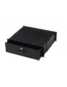 """Cassetto Per Armadi Rack 19"""" Con Serratura, 3 Unita', Colore Nero Ral9005-Dimensioni (L/P/A) Mm. 485X480X134"""