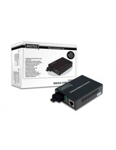Convertitore 10/100 Rj45 Media Converter - Fibra Ottica Sc Singlemode