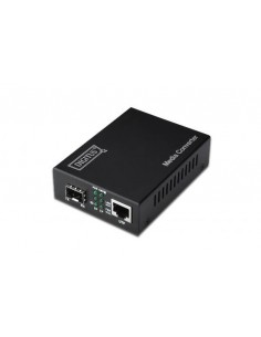Convertitore 10/100/1000 Gigabit Media Converter Rj45 - Fibra Ottica Con Modulo Sfp