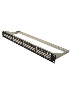 """Pannello Patch 19"""" 48 Porte Per Connettori Keystone (Vuoto) 1 Unita' Schermato Colore Nero"""