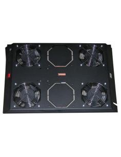 Kit 4 Ventole Con Termostato, 12.8 Metri Cubi Circolazione D'Aria Colore Nero Per Armadi Linea Server (Dn-19 Fan-4-1000Sw)