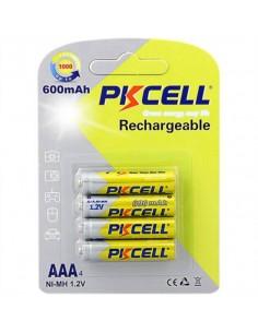Batterie Ricaricabili Ministilo Aaa Ni-Mh 600 Mah 1,2 V Blister 4 Pezzi