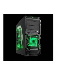 Case Gaming Laterale Trasparente, Ventola 32Led Usb 3.0 Verde