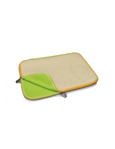 "Custodia Per Notebook 15,4"" In Neoprene ""Chicken Scratch"" Beige/Giallo Cm. 38,5 X 28"