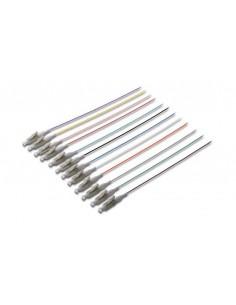 Set 12 Cavi Pigtail Fibra Ottica Colorati Connettori Lc Om3 50/125 Simplex