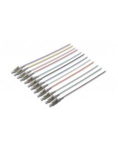 Set 12 Cavi Pigtail Fibra Ottica Colorati Connettori Lc Om4 50/125 Simplex