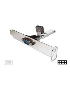 Cavo Con Staffa Metallica Interno/Esterno Porta Seriale Rs232 9 Poli Maschio/Idc 10 Pin