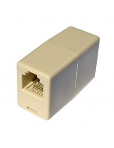 Accoppiatore Telefonico 2 Connettori Rj11 - 6P4C Femmina/Femmina Colore Bianco