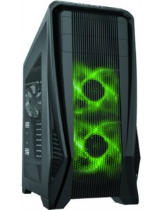 Case Gt15 Tower Atx, Usb 3,0, Audio Hd, 2 Fan Da 14Cm + 2 Da 12 Cm Luce Verde