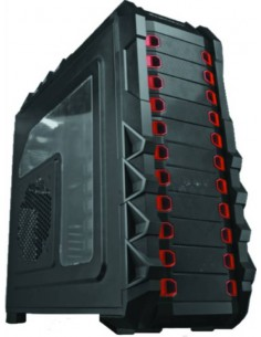 Case F15 Full Tower Xl-Atx, Usb 3.0, Audio Hd, 3 Fan Da 20Cm + 1 Da 14Cm Luce Rossa