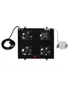 Kit 4 Ventole Con Termostato Colore Nero Per Armadi Linea Professionale