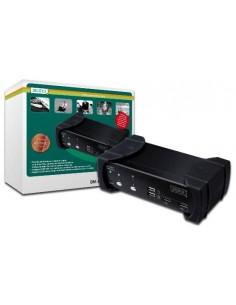 Data Switch Per 2 Pc Usb/Dvi Con 1 Utente Con Monitor Dvi, Mouse E Tastiera Usb, Condivisione Audio, Hub 2 Porte Usb 2.0 E 2 Set