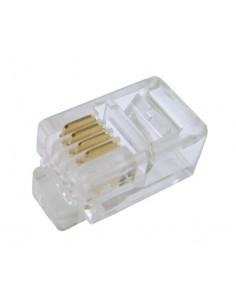 Connettore Plug Telefonico 4 Conduttori 4 Posizioni Rj10 (A-Mo 4/4 Sf)
