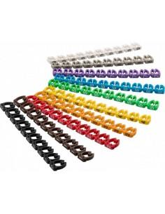 Confezione 100 Clip Per Cavi Diametro Fino A 6 Mm Con Numeri 0-9