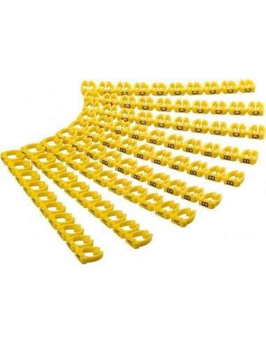 Confezione 90 Clip Per Cavi Diametro Fino A 6 Mm Con Lettere A-C