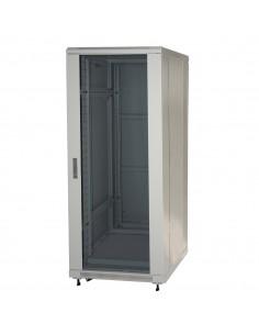 "Armadio Rack 19"" 27U (A)1388 (L)600 (P)1000 Colore Grigio Porta Vetro"