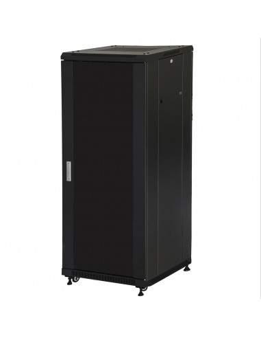 """Armadio Rack 19"""" 27U (A)1388 (L)600 (P)1000 Colore Nero Porta Vetro"""