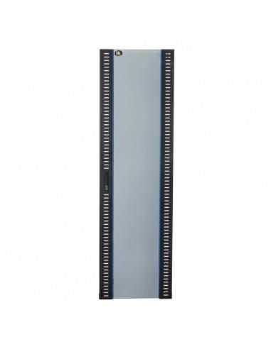 Porta In Vetro Di Sicurezza Nera Per Armadi Link 42U Larghezza 600Mm Con Serratura