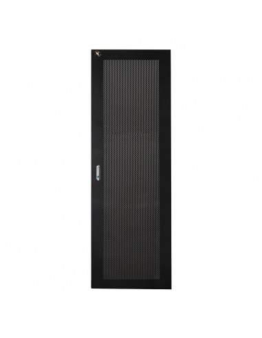 Porta In Metallo Traforata Nera Per Armadi Link 42U Larghezza 600Mm Con Serratura