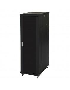 """Armadio Rack 19"""" 42U (A)2055, (L)600, (P)1000 Colore Nero Porta Vetro"""