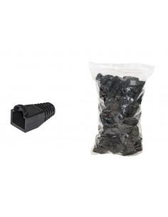 Confezione 100 Copriconnettori 6Mm Per Plug Rj45 8 Poli Cavo Cat 5E- 6 Neri