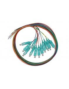 Set 12 Cavi Pigtail Fibra Ottica Colorati Connettori Sc Om3 Simplex 1 Mt