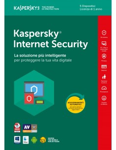Kaspersky Internet Security 5 Utenti 1 Anno