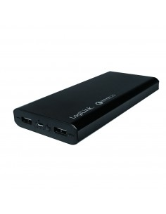 Power Bank 15000 Mah Con Ricarica Quickcharge Qualcomm 2.0 Con 2 Porte Usb