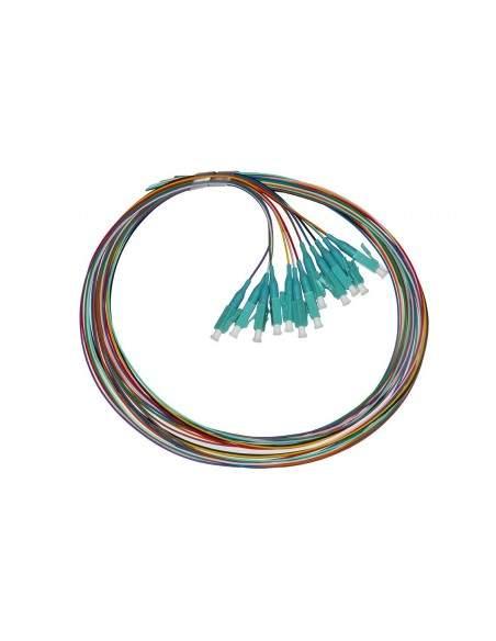 Set 12 Cavi Pigtail Fibra Ottica Colorati Connettori Lc Om3 Simplex 1 Mt