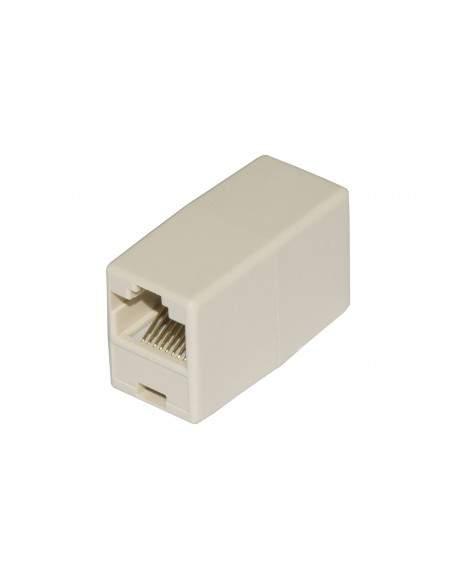 Accoppiatore Telefonico 2 Connettori Rj45 - 8P8C Femmina/Femmina Colore Bianco