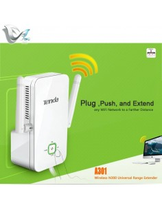 Range extender A301 300Mbps ripetitore wireless N a muro