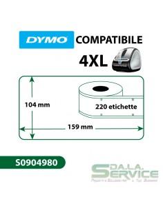Etichette Compatibili Dymo LabelWriter 4XL S0904980 - 104x159 mm - bianco - S0904980 (pz.1x220)