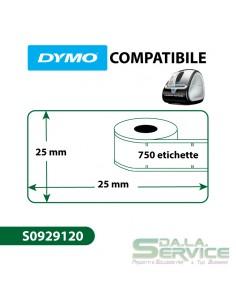 Etichette Compatibili Dymo LabelWriter - removibili - 25x25 mm - bianco - S0929120 (pz.1x750)