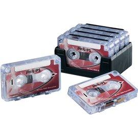 Mini cassette Philips - 30 minuti - rosso - LFH 005 (conf.10)