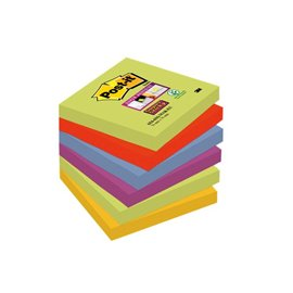Foglietti Post-It® Super Sticky Marrakesh - 76x76 mm - 654-6Ss Mar-Eu (Conf.6)