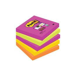 Post-it® Super Sticky Cape Town - 76x76 mm - arancione, rosa, verde, corallo, giallo oro - 654S-N