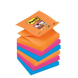 Ricariche Post-it® Z-Notes Super Sticky Post-It Bangkok - 76x76 mm - assortiti - R330-6SS-EG (conf.6)