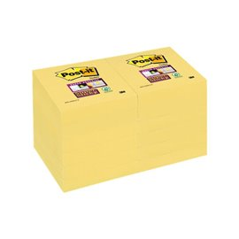 Post-it® Super Sticky Canary™ - 51x51 mm - giallo canary - 622-12SSCY-EU (conf.12)