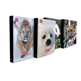 Cartella ad anelli ANIMAL WORLD Pigna - 27x32 cm - 30 mm - 022437030 (conf.5)