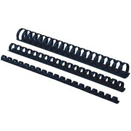 Dorsi plastici a 21 anelli Fellowes - 8 mm - 40 fogli - nero - 5330702 (conf.25)