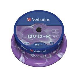 DVD Verbatim - DVD+R - 4,7 Gb - 16x - Spindle - 43500 (conf.25)